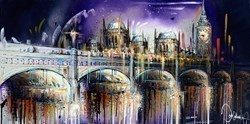 Lilac Skies by Samantha Ellis -  sized 48x24 inches. Available from Whitewall Galleries